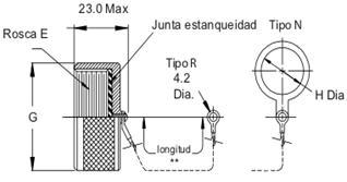 Tapón Conector base